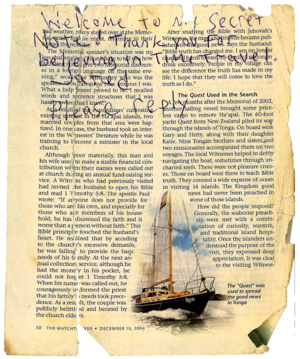 And here is an apparent letter from a Time Traveler that was found in the box.