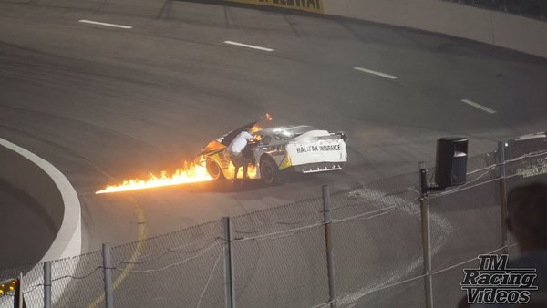 Mike Jones Late Model Crash and Fire