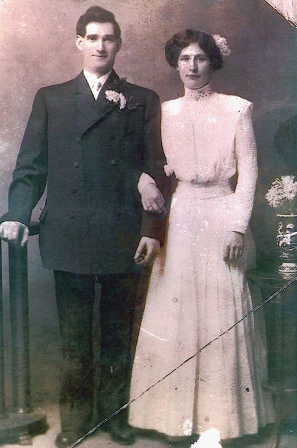 William en Bridget McLaughlin ontvluchtten armoede en onderdrukking in Ierland. In Amerika zochten ze naar een beter bestaan (foto: O'Donnell family)