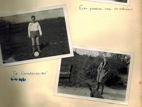 Foto's uit het album van mijn moeder. Afgebeeld staat haar neef Anton Marsman, die een succesvol bouwbedrijf zou oprichten in Canada (foto: familie Marsman/De Laat)