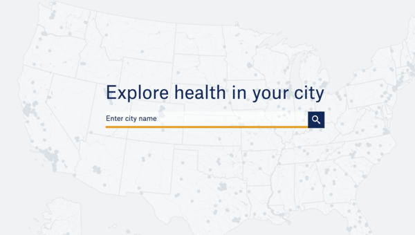 The web app built on top of open health data.