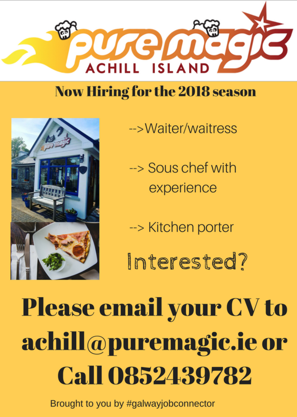 Jobs on Achill at Pure Magic