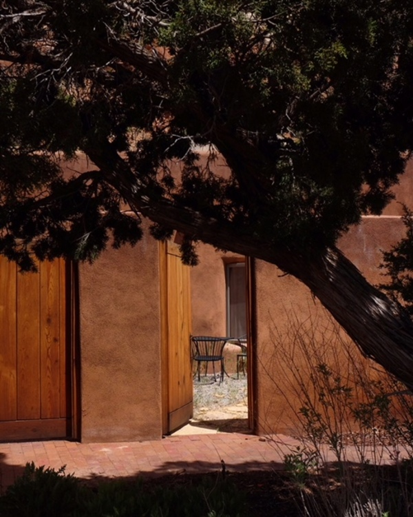 A courtyard shot I took at Christ in the Desert Monastery