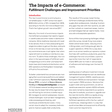 The Impacts of e-Commerce - Modern Materials Handling