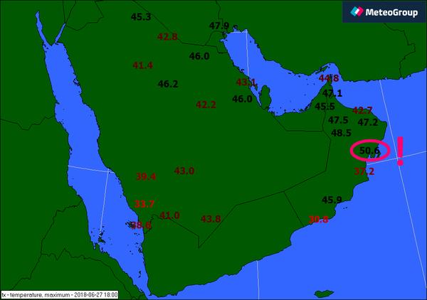 Rekordowy upał w Omanie