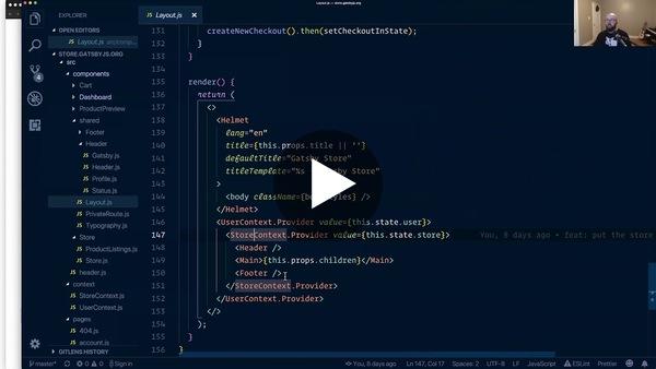 Work-In-Progress Gatsby Store Live Demo - YouTube