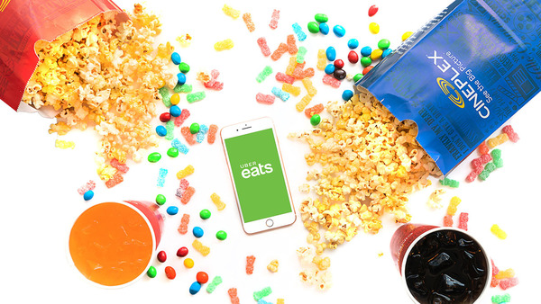 Cineplex, Uber Eats Launch Home Delivery of Movie Popcorn   | Hollywood Reporter