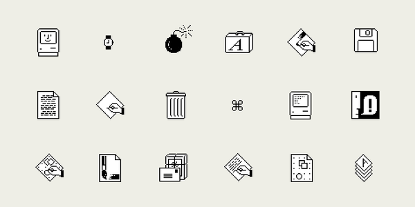 Some of Susan Kare's icons