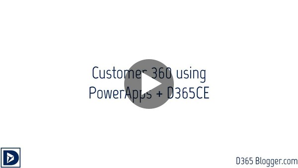 Customer 360 using PowerApps + D365CE - YouTube