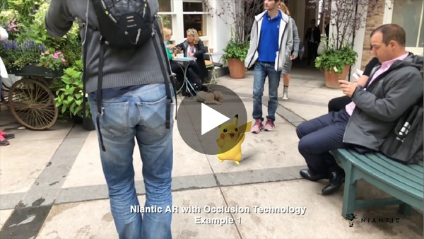 Codename: Niantic Occlusion - Real World AR Occlusion featuring Pikachu and Eevee - YouTube