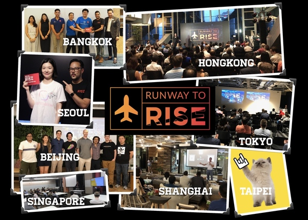 I flew to 8 cities to find new startups to compete against each other at RISE!