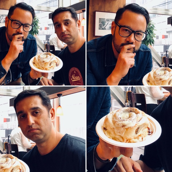 Me, 8 Securities co-founder Mikaal Abdulla and a Cinnabon in Tokyo in June.