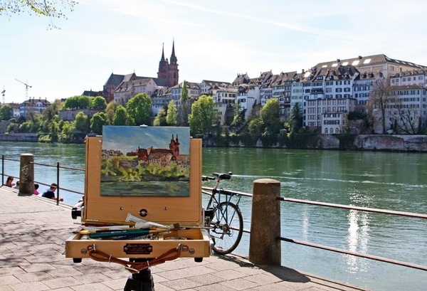 En Plein Air by the Rhine River in Basel Switzerland | Creative Potager