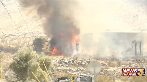 80-acre fire in Palm Springs standing at 20-percent containment - KESQ