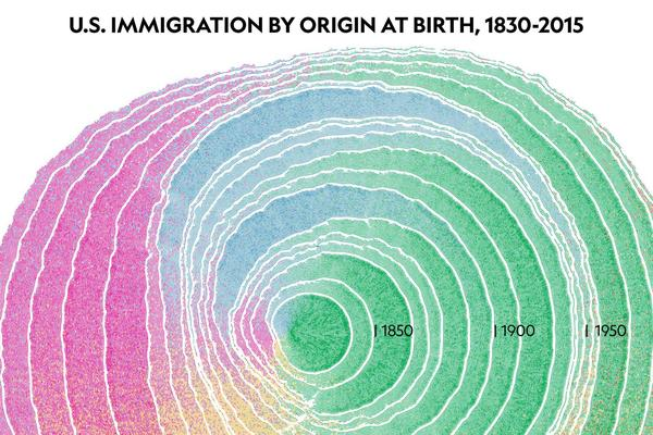 See 200 Years of Immigration in the United States as a Graphic of a Growing Tree