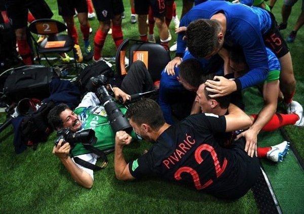 Croatie-Angleterre : le photographe AFP Yuri Cortez au plus proche de l'action