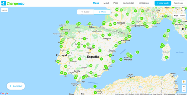 ChargeMap of Spain
