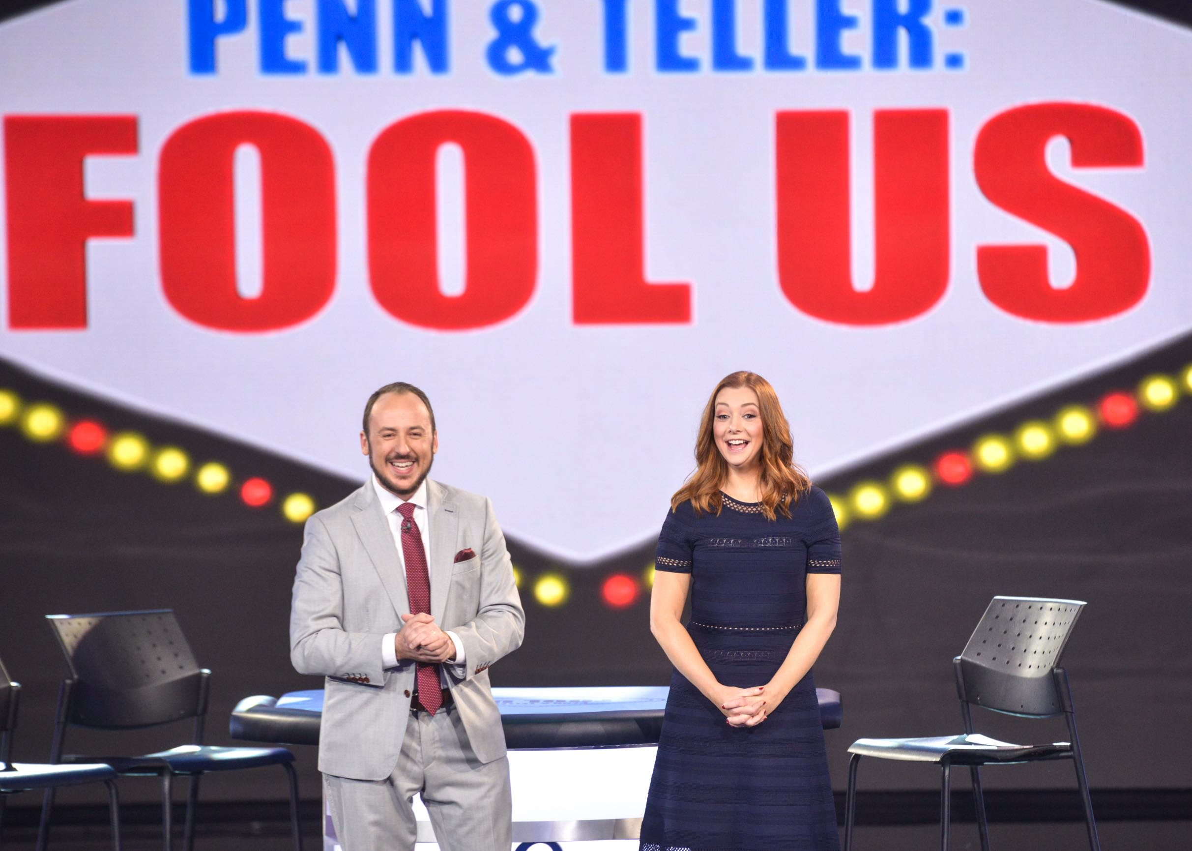 With the new host, Alyson Hannigan. (Photo: Jacob Kepler/The CW)