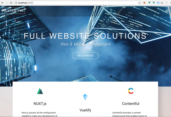 Create website with Nuxt.js (vuejs & vuetify) + contentful publish to GitHub pages