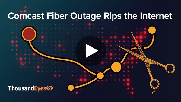 Comcast Fiber Outage Rips the Internet - YouTube