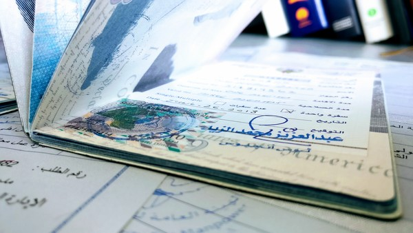 Kuwait lands the first visa in Tod's four-year-old passport. (Someone's got to get out of the house more.)