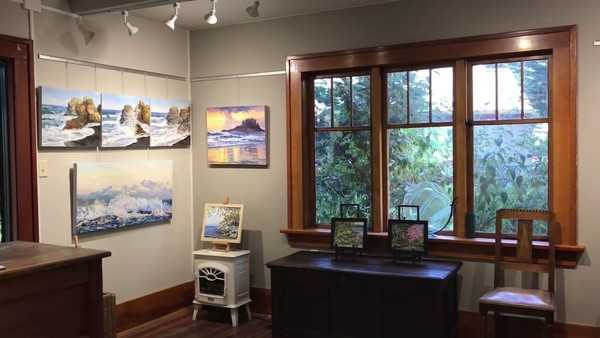 The Sea and Me at the Mayne Island Terrill Welch Gallery - YouTube