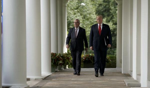 Kunnen de Europese Unie en Amerika weer samen over straat na handelsconflict? (Foto: Reuters)