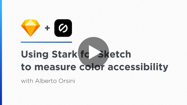 Using Stark for Sketch to measure color accessibility