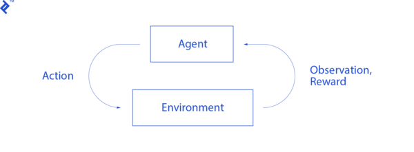 An agent's interactions with the environment.