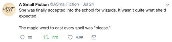 Life's magic words.