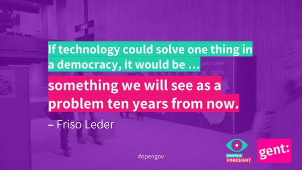 Technologie kan anticiperen, voorspellen, en ons tijdig op problemen wijzen.