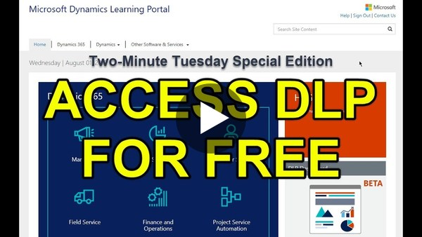 "Two-Minute Tuesday - SPECIAL EDITION: ""Access DLP for FREE"" - YouTube"