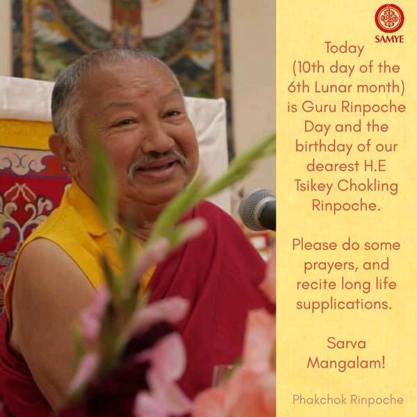 Precious Tsikey Chokling Rinpoche shares Guru Rinpoche's Birthday!