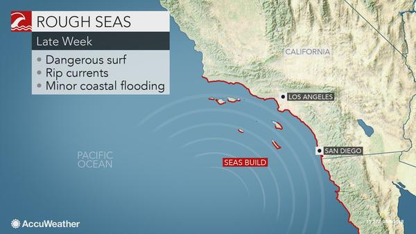 Dangerous surf from John to affect Southern California beaches Friday, Saturday