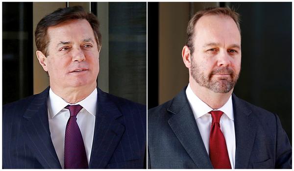 Paul Manafort en zijn voormalige rechterhand Rick Gates (foto: Reuters)