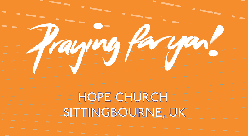Click the image for a reminder of how to pray for our pioneers in Sittingbourne.