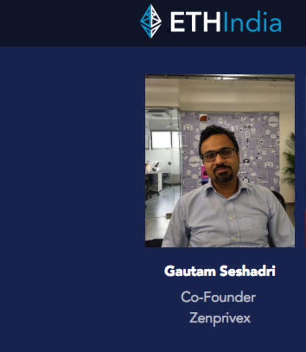 Gautam Seshadri Speaking at ETH India