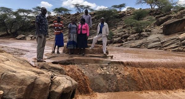 Sand dam restoration in Samburu. Click image for more pictures.