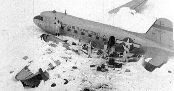Durch die Hitzewelle ist in der Schweiz ein 72 Jahre altes Flugzeugwrack wieder aufgetaut