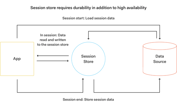 Session store enables saving data logs to disk, although Redis is in-memory.