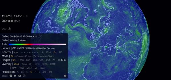 Visualization of global wind.