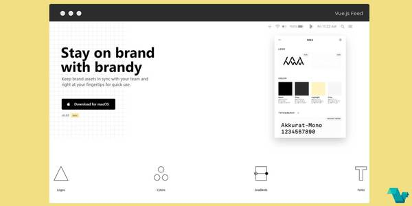 Brandy is a brand asset manager powered by Vue.js