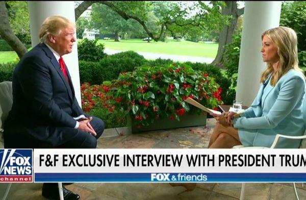 Trump gaf deze week een zeldzaam interview aan Fox News
