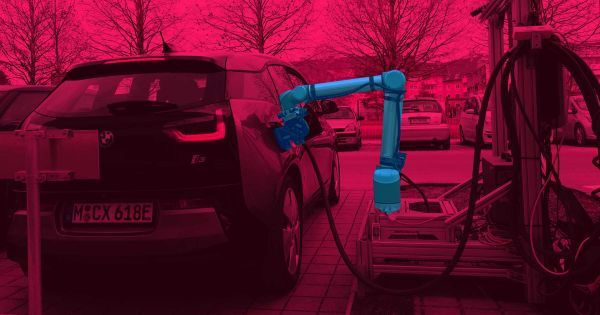 Will robots charge e-powered AV Electric Vehicles?