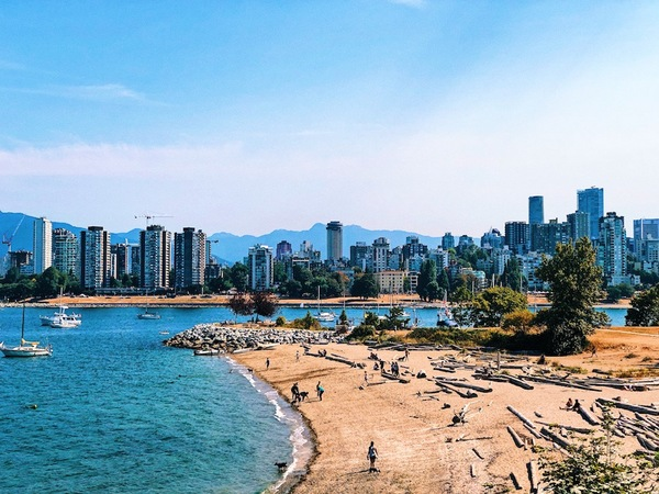 The view from Kits Beach