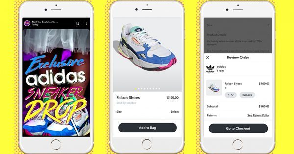 Snapchat's Latest Ecommerce Play Sells Out Again—This Time With Adidas