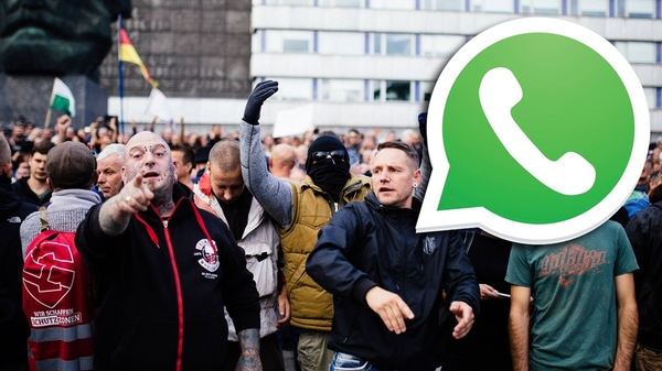 So wurden Hetznachrichten in Chemnitz nach dem Stadtfest per Whatsapp verbreitet - watson