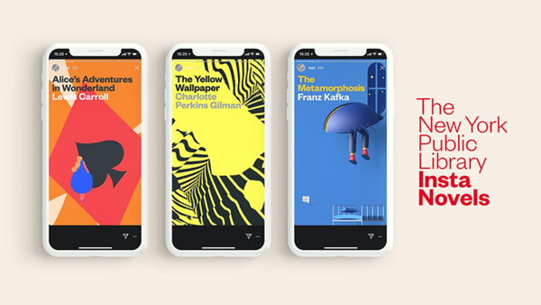 The New York Public Library met des livres sur Instagram stories