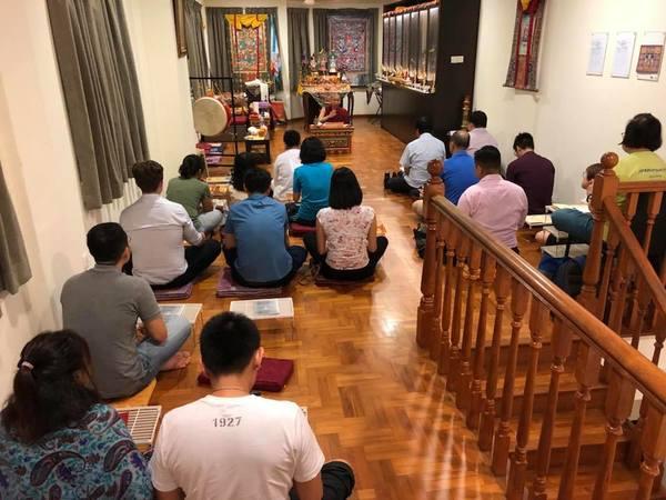 Tulku Mingmar Teaching in RYO Singapore