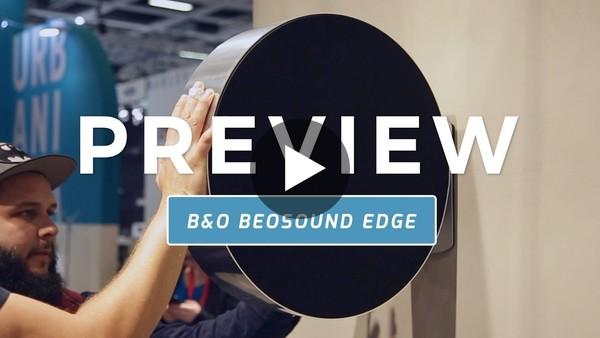 Deze speaker bedien je door hem te duwen   B&O Beosound Edge preview (Dutch) - YouTube
